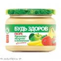 """Пюре бананово-яблочно-клубничное """"Будь Здоров"""""""