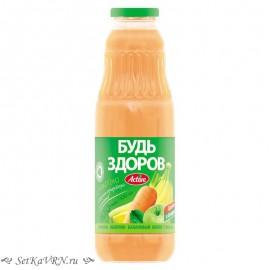 """Морковно-яблочно-банановый нектар с мякотью """"Будь здоров"""""""