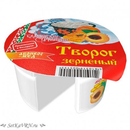 Творог зерненый абрикос-мед. Купить белорусский творог в Воронеже