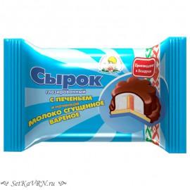 Сырок глазированный с печеньем и сгущенным молоком. Купить белорусские глазированные сырки в Воронеже.