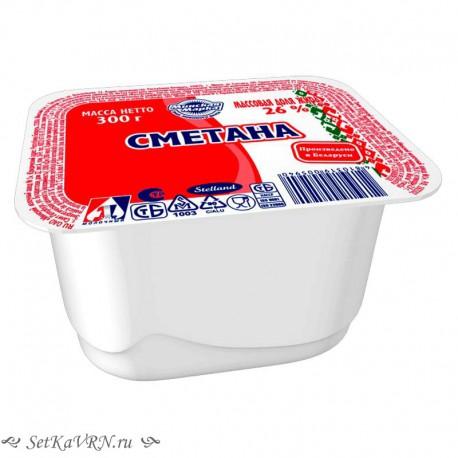 Сметана 26%. Купить белорусские молочные продукты в Воронеже