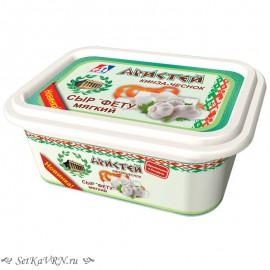 """Сыр """"Фету"""" мягкий кинза-чеснок. Купить белорусские молочные продукты в Воронеже"""