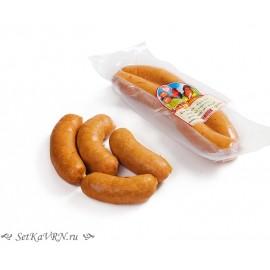 """Колбаски """"Гриль с сыром"""". Белорусская колбаса варено-копченая из мяса птицы в Воронеже."""