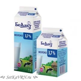 Молоко пастеризованное 3,7%. Беллакт. Купить в Воронеже недорого