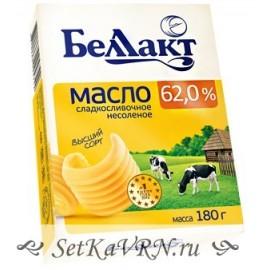 Масло сладкосливочное несоленое 62,0%. Беллакт. Купить в Воронеже недорого