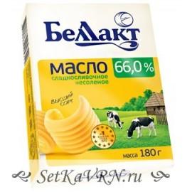 Масло сладкосливочное несоленое 66,0%. Беллакт. Купить в Воронеже недорого