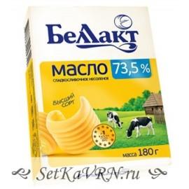 Масло сладкосливочное несоленое 73,5%. Беллакт. Купить в Воронеже недорого