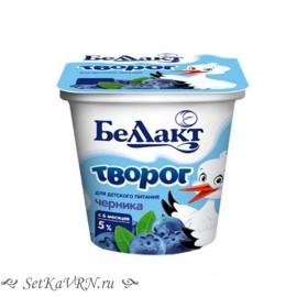 """Творог для детей раннего возраста """"Черника"""", 5,0%. Белорусские продукты для детей Воронеж"""
