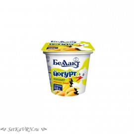"""Йогурт для детей раннего возраста сладкий """"Абрикос-банан"""", 3,0%. Белорусские продукты для детей Воронеж"""