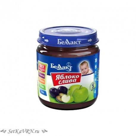 Фруктовое детское пюре. Яблоко - слива. Прикорм. Белорусские продукты Воронеж