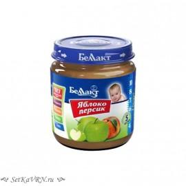 Фруктовое детское пюре. Яблоко - персик. Прикорм. Белорусские продукты Воронеж