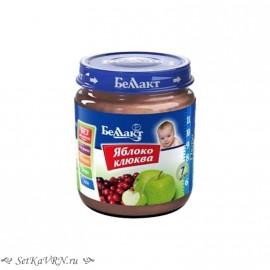 Фруктовое детское пюре. Яблоко - клюква. Прикорм. Белорусские продукты Воронеж