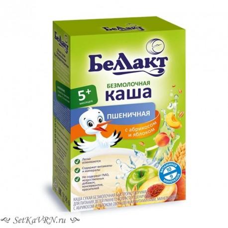 Каша безмолочная пшеничная с абрикосом и яблоком. Прикорм. Белорусские продукты Воронеж