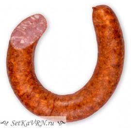 Домашняя полукопченая колбаса белорусская