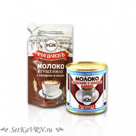 Молоко сгущенное с сахаром и какао, белорусская сгущенка