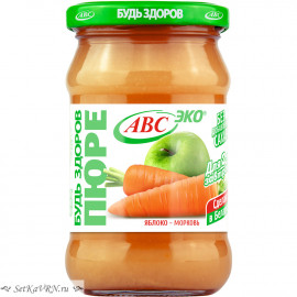 """Пюре яблоко-морковь """"Будь Здоров"""""""