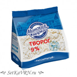 "Творог ""Минская марка"" рассыпчатый 9% 350 г"