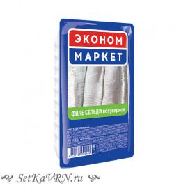 """Филе сельди """"Эконом маркет """"Популярное"""" в масле"""