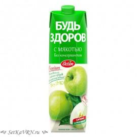 """Яблочный нектар с мякотью """"Будь здоров"""""""