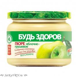 """Пюре яблочно-грушевое """"Будь Здоров"""""""